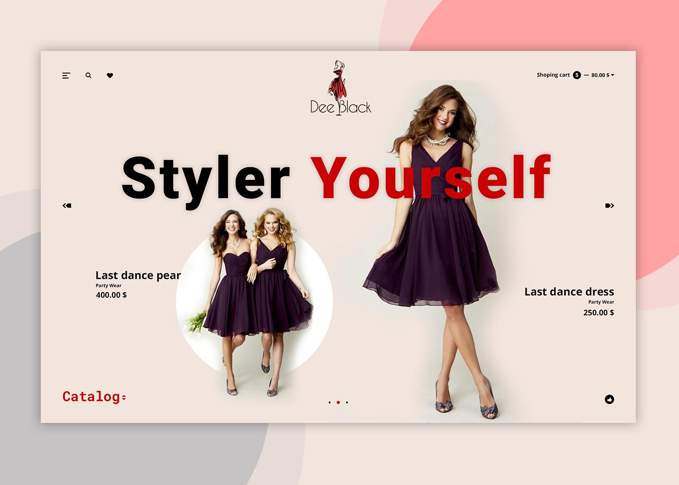Dee Black fashion landing page free psd