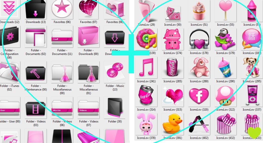 Pack Pink icons by Pinbu