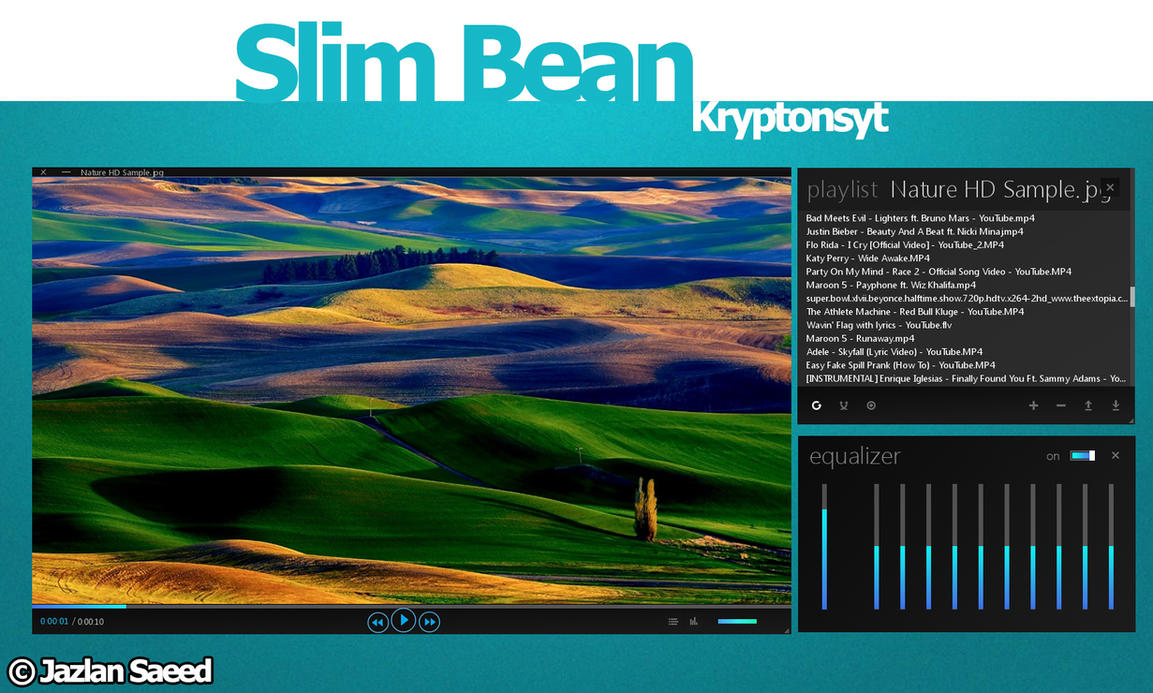 Slim Bean VlC Media Player Skin by KryptonSyt