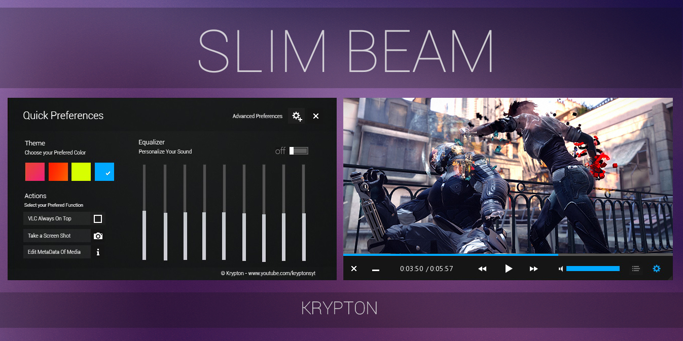 VLC - Slim Beam - Black Skin by KryptonSyt