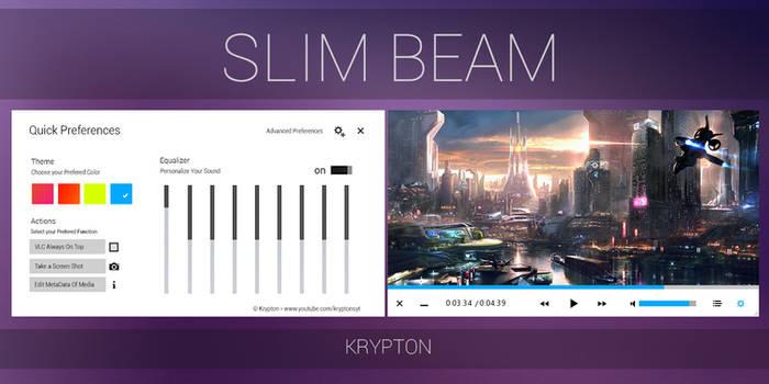 VLC - Slim Beam - White Skin by KryptonSyt