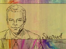 Shepard Sketched Wallpaper by RSMRonda