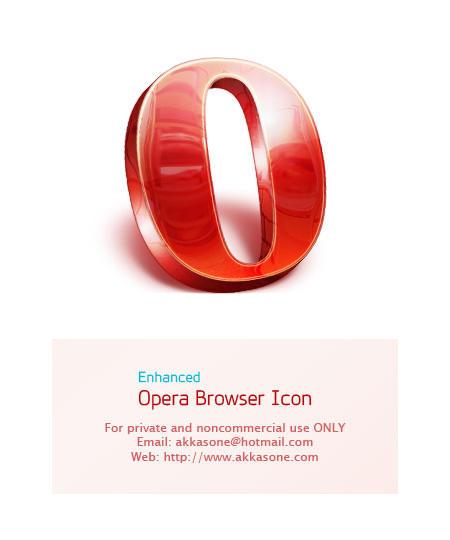 Opera Browser Icon - Enhanced by akkasone