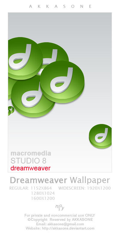 Dreamweaver Icon Wallpaper by akkasone
