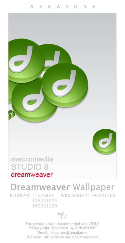 Dreamweaver Icon Wallpaper by akkasone