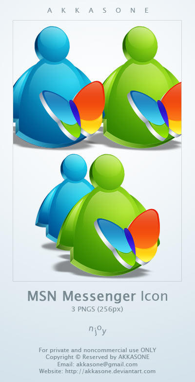 MSN Messenger Icon by akkasone