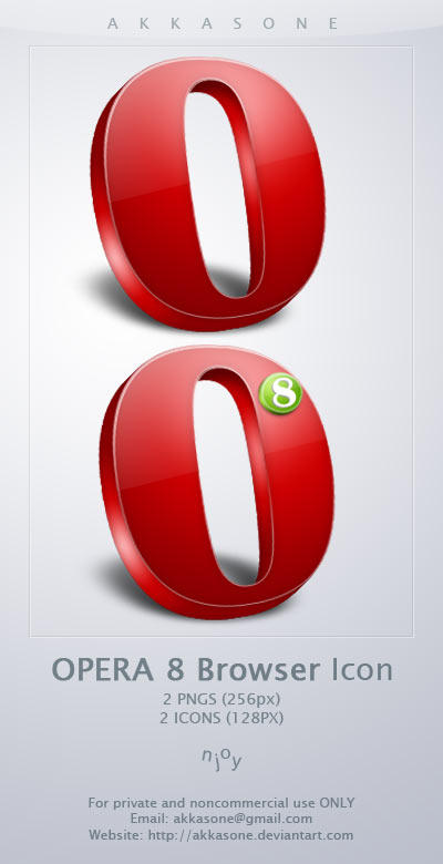 Opera 8 Browser Icon by akkasone