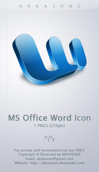MS Office Word Icon by akkasone