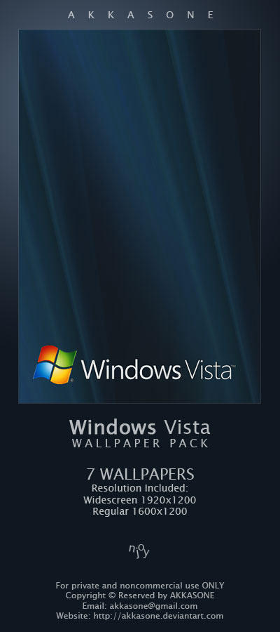 Windows Vista Wallpaper Pack by akkasone
