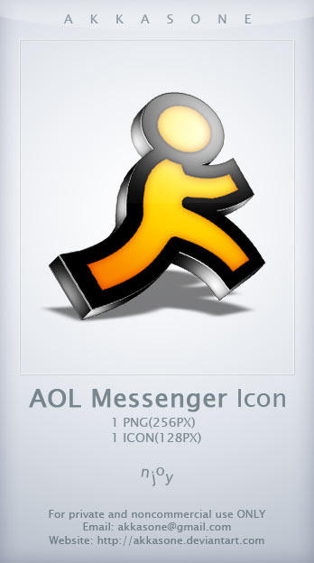 AOL Messenger Icon by akkasone
