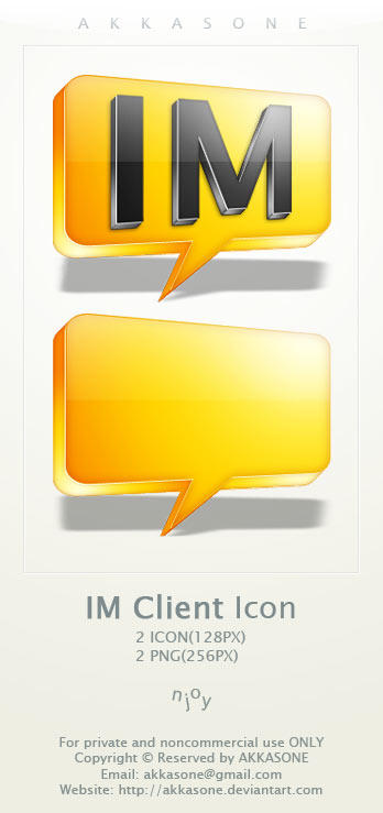 Instant Messenger Client Icon by akkasone