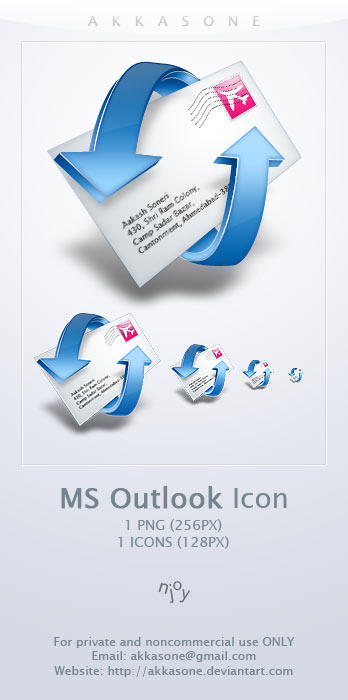 Microsoft Outlook Icon by akkasone Icon, Icons and more Icons