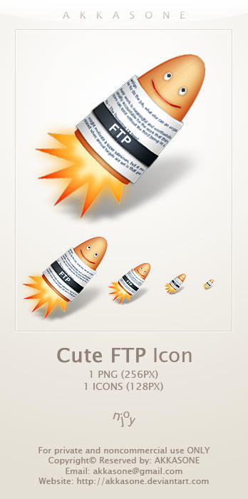 Cute FTP Icon by akkasone