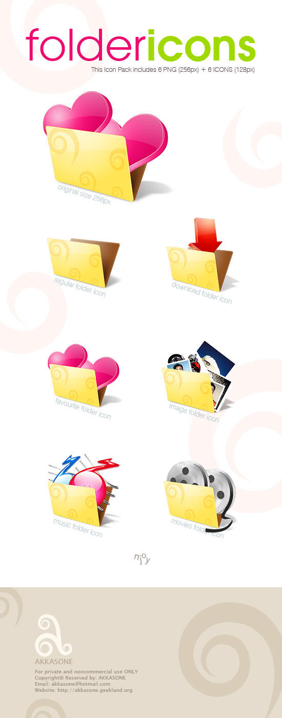 Folder Icon Pack by akkasone