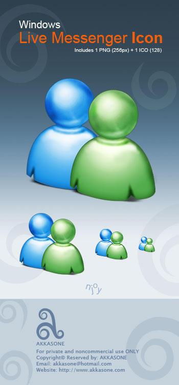 Windows Live Messenger Icon by akkasone