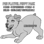 [P2U] Playful Pup Lineart Pack (AVAILABLE ON KOFI)
