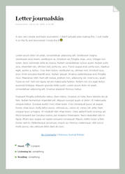 Simple Letter Journalskin v2