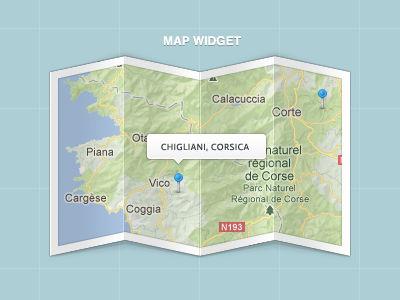 Map Widget ( .psd included )