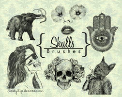 Brushes Skull by TrendyLife