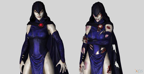 [Injustice GAU] Teen Titans Raven {REUP} by MyllaDinX