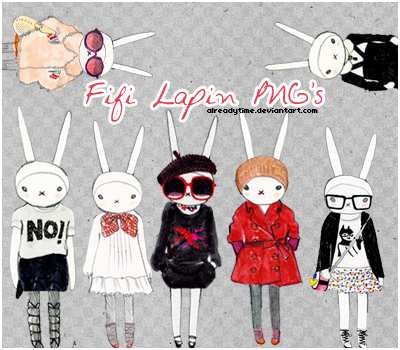 Fifi Lapin PNG's by AlreadyTime