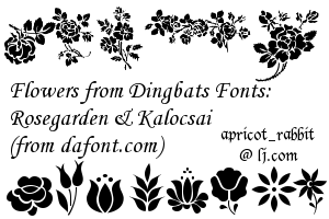 17 Dingbats Flower Brushes by apricot-rabbit