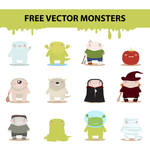 free vector monsters