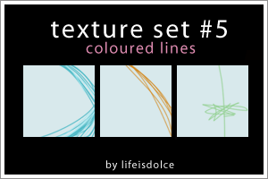 Texture Set 5: Coloured Lines by lifeisdolce