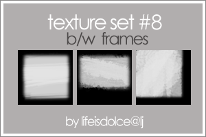 Textures o8 BW Frames by lifeisdolce