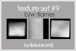Textures o9 BW Frames by lifeisdolce
