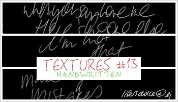 Textures 13: Handwritten by lifeisdolce
