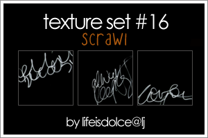 TEXTURES 16: SCRAWL by lifeisdolce