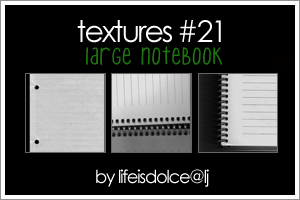 TEXTURES 21: LARGE NOTEBOOK by lifeisdolce