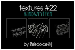 TEXTURES 22: HANDWRITTEN by lifeisdolce