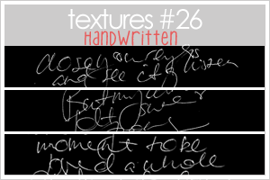 TEXTURES 26: HANDWRITTEN by lifeisdolce