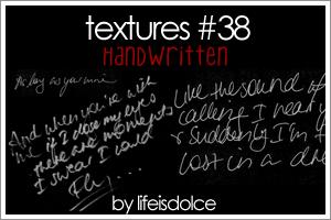 TEXTURES 38: HANDWRITTEN by lifeisdolce