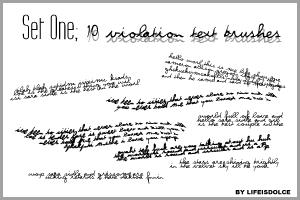 Brush Set 1: Violation Text by lifeisdolce