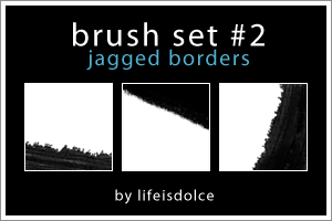 Brush Set 2-Jagged Borders by lifeisdolce