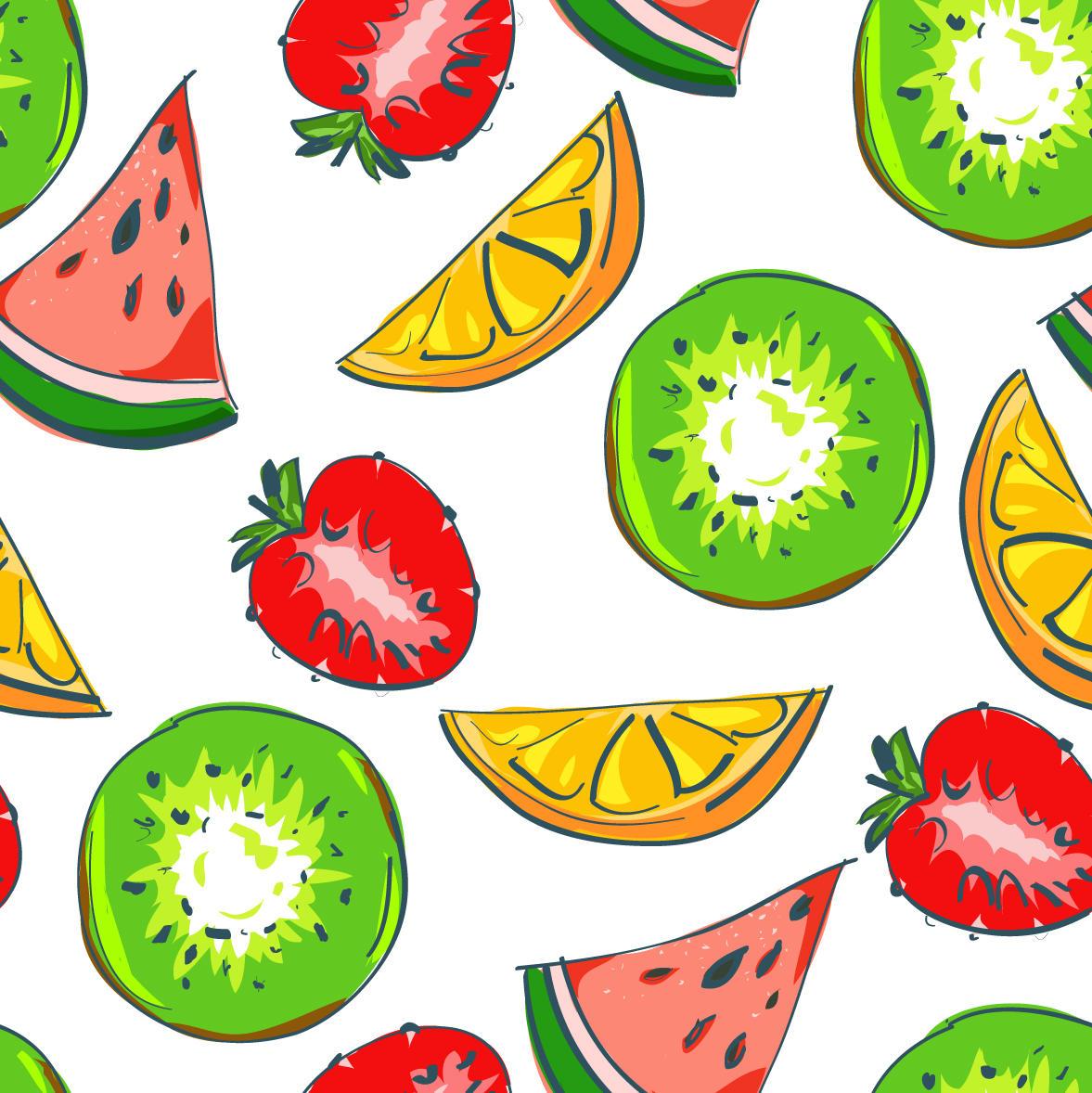 free fruits pattern by oxanaart on DeviantArt: oxanaart.deviantart.com/art/free-fruits-pattern-208844076