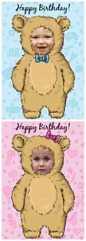 Baby-bear cards - FREE