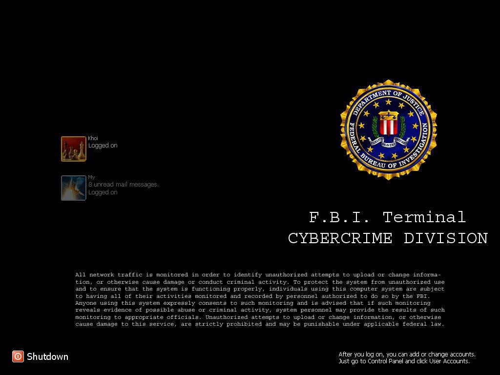 Fbi Terminal Login by kyon