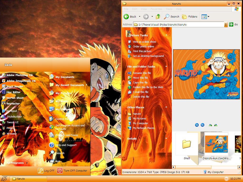 Naruto by gedew Download   Download Tema do Naruto