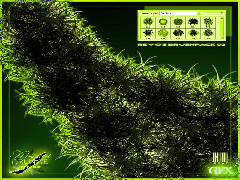 Abstract-Grunge-Hairballz-02 by RevO-GFX