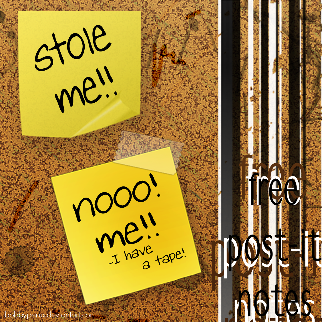 Free Post it Notes by Bobbyperux