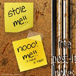 Free Post it Notes by Bobbyperux