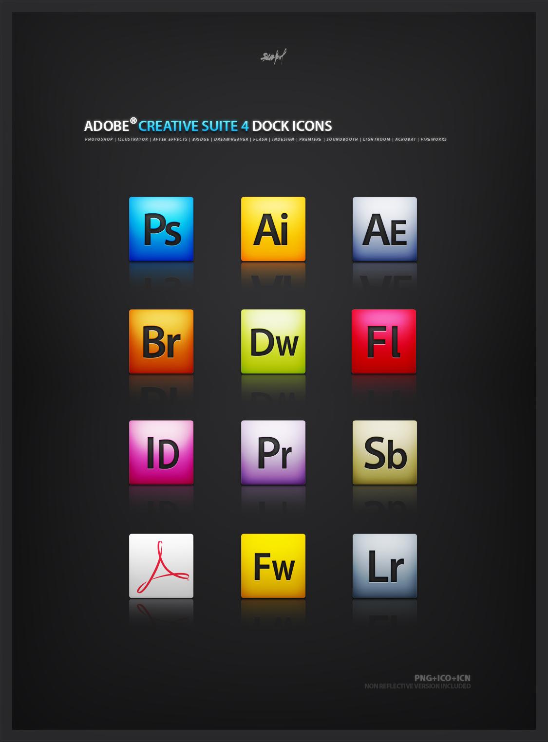Adobe CS4 mini icon set