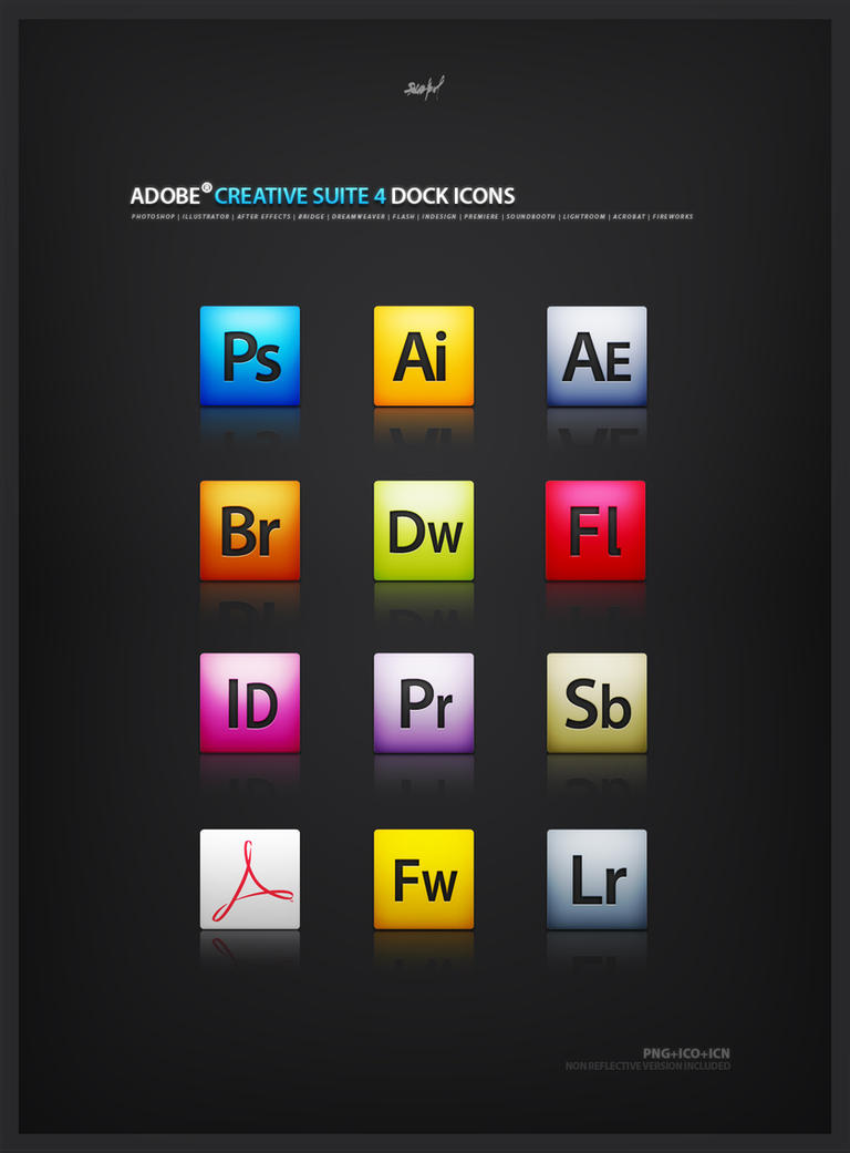 Adobe CS4 mini icon set by Bobbyperux