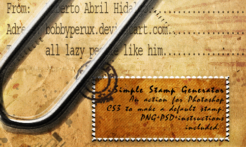 Simple stamp generator