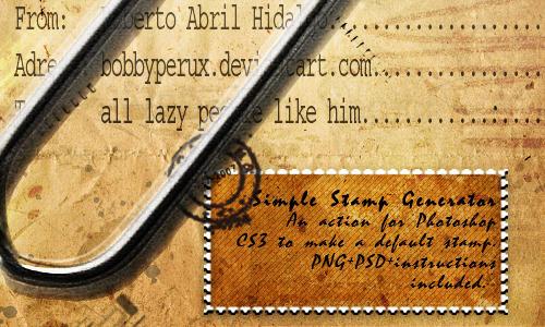 Simple stamp generator by Bobbyperux