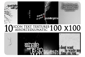 Icon Text Textures 1 by assortedlunatic